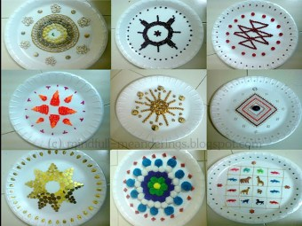 Thermocol aarthi plates