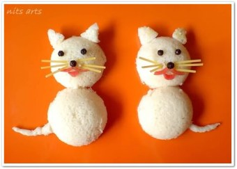 Idli cats - Fun food decoration