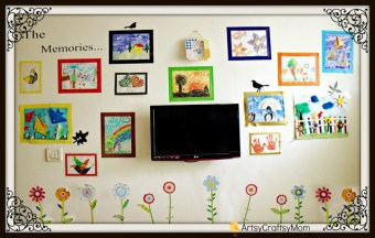 Latest DIY project – Our Art display wall
