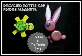 Recycled Bottle Cap Fridge magnets