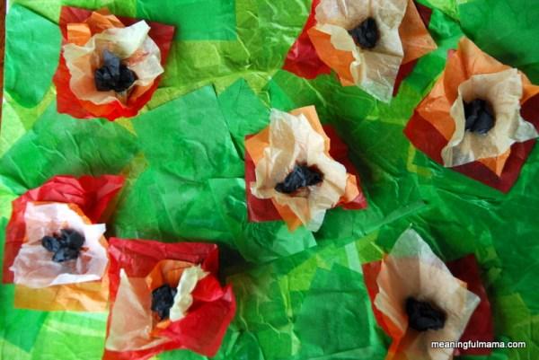 tissue-paper-Monet-poppy-collage-044