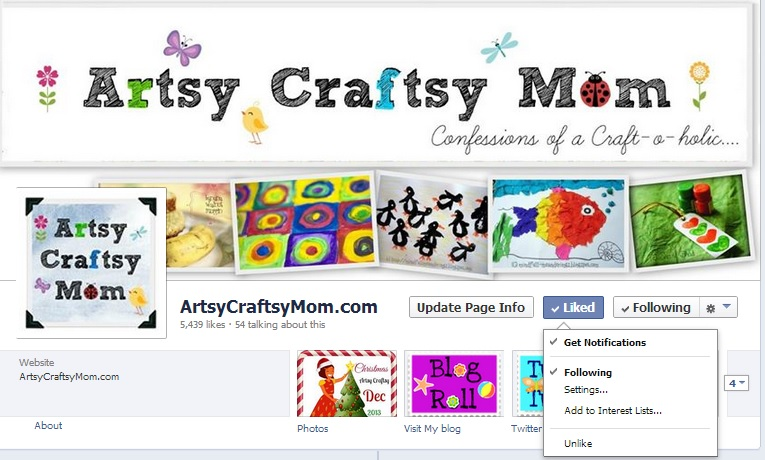 Artsy Craftsy Mom on Facebook