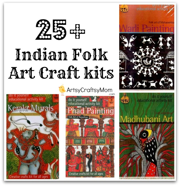 25 Indian Folk Art Craft Kits Artsy Craftsy Mom