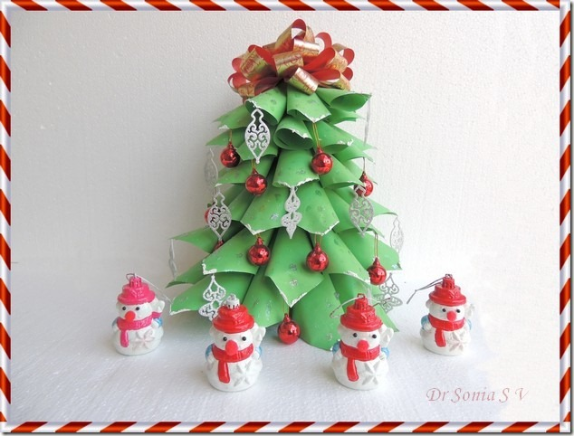 Christmas Craft - Paper Christmas tree