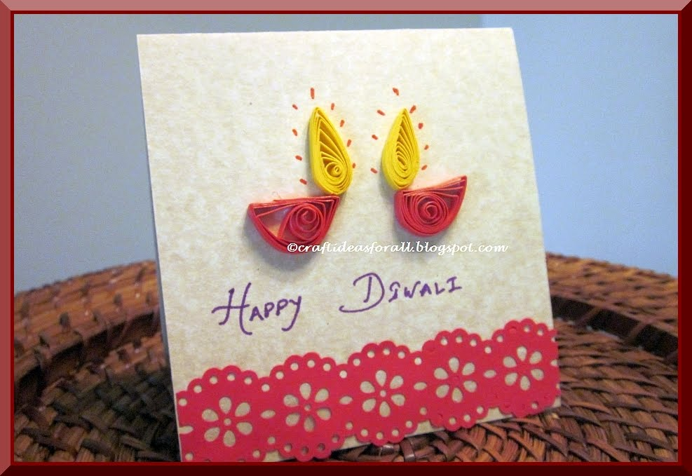Ideas For Making Greeting Cards At Home Part - 44: Diwali Fire Cracker Card | 15+ Diwali Card Making Ideas For Kids - Kandils,
