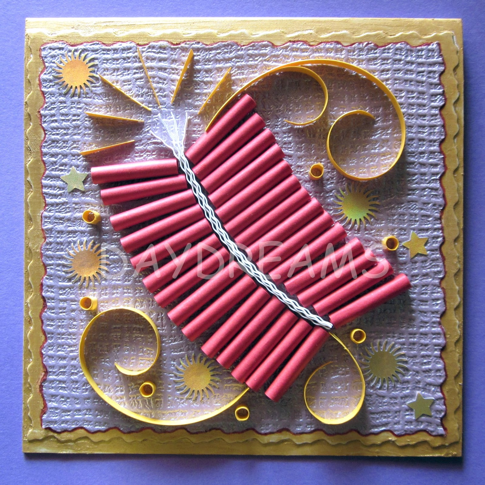 Some Ideas For Making Cards Part - 43: Diwali Fire Cracker Card | 15+ Diwali Card Making Ideas For Kids - Kandils,