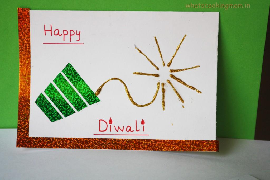 Cards Making Ideas Part - 45: Diwali Fire Cracker Card | 15+ Diwali Card Making Ideas For Kids - Kandils,