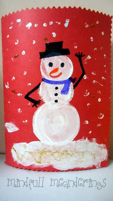 Snowman Card & Christmas Crafts DIY card Christmas Crafts