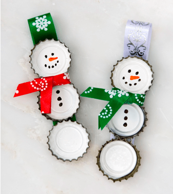 Bottle Cap Ornaments