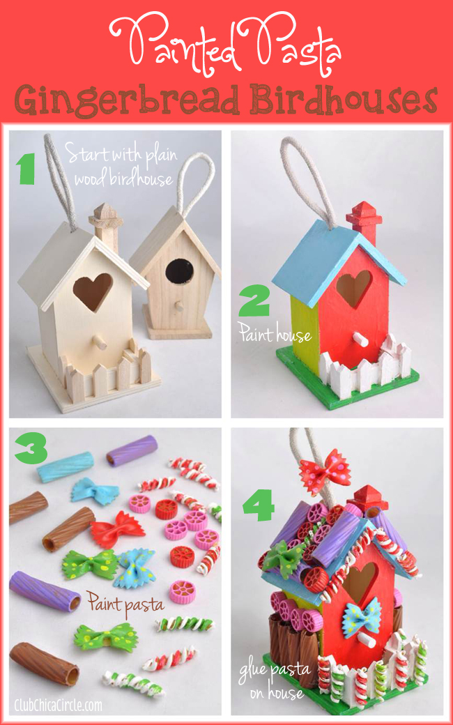 13 Easy Christmas Ornaments for Kids to make with pasta - Artsy ...