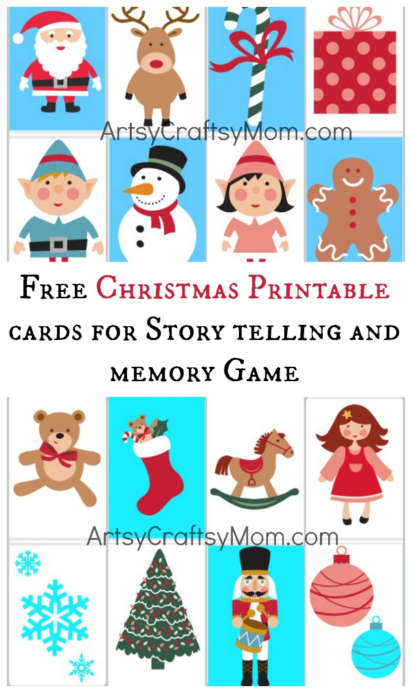 Free Christmas Printable cards for Story telling and memory Game ...
