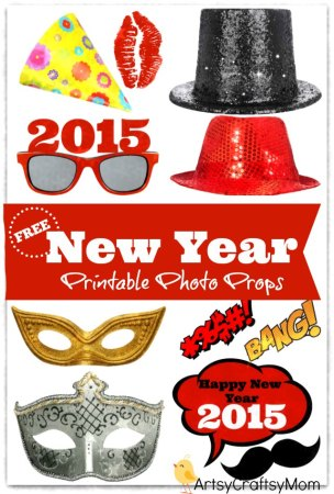 Free Printable Photo Props for New Year's Eve