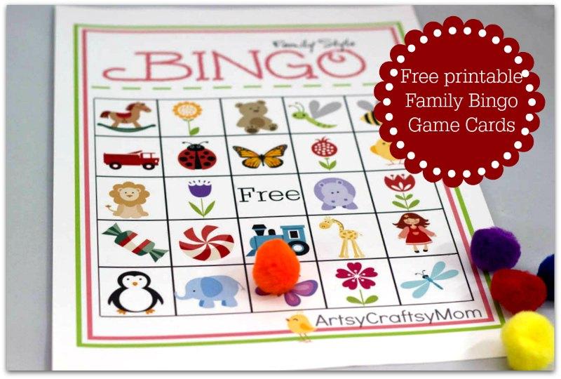 Free Printable Family Bingo Card Set Artsy Craftsy Mom