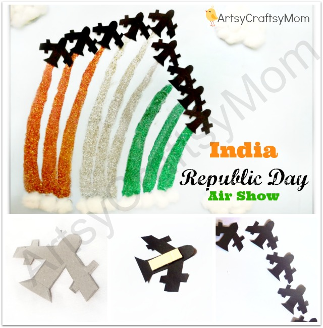 India Republic Day Air Show Collage Craft-1