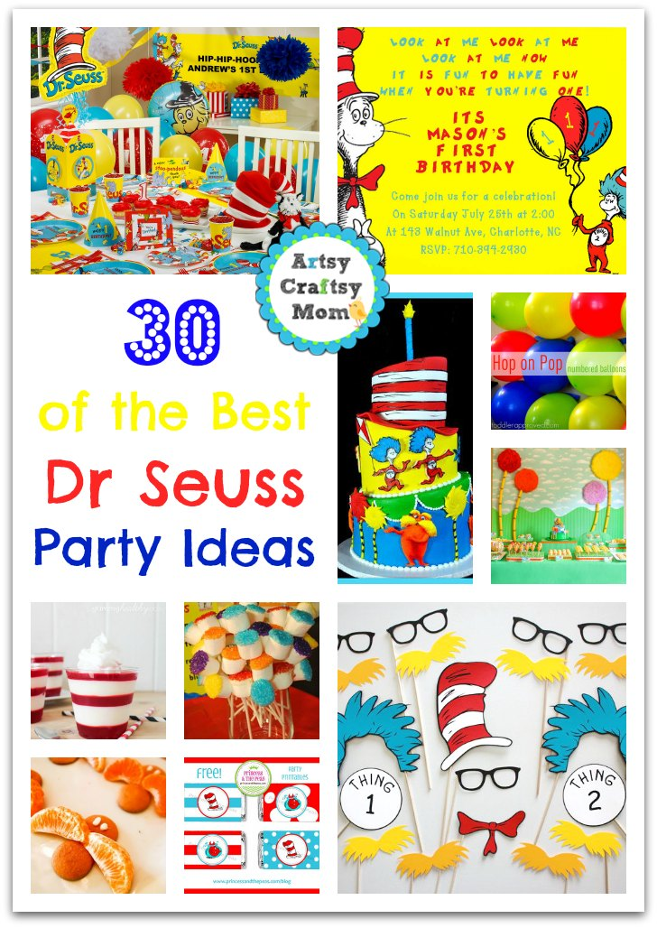 30 Ideas For The Perfect Dr Seuss Party Artsy Craftsy Mom