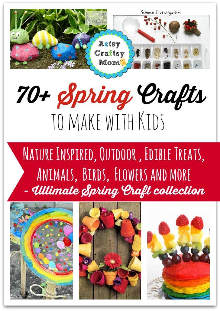 72 Fun Easy Spring Crafts For Kids Artsy Craftsy Mom