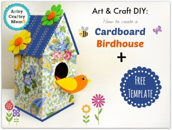 Diy #3 cardboard birdhouse – craft'itoday.