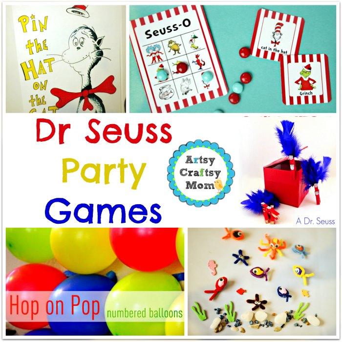 Dr Seuss Party games