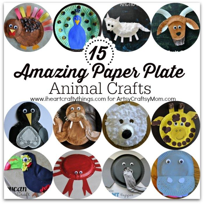 sc 1 st  Artsy Craftsy Mom & 15 Amazing Paper Plate Animal Crafts - Artsy Craftsy Mom