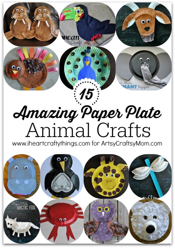 15 Amazing Paper Plate Animal Crafts1  sc 1 st  Artsy Craftsy Mom & 15 Amazing Paper Plate Animal Crafts - Artsy Craftsy Mom