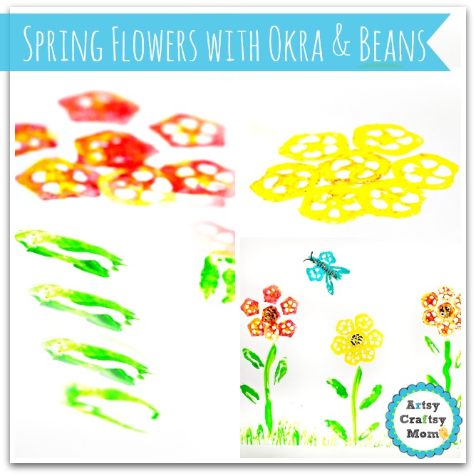 Spring flowers with Okra & Beans