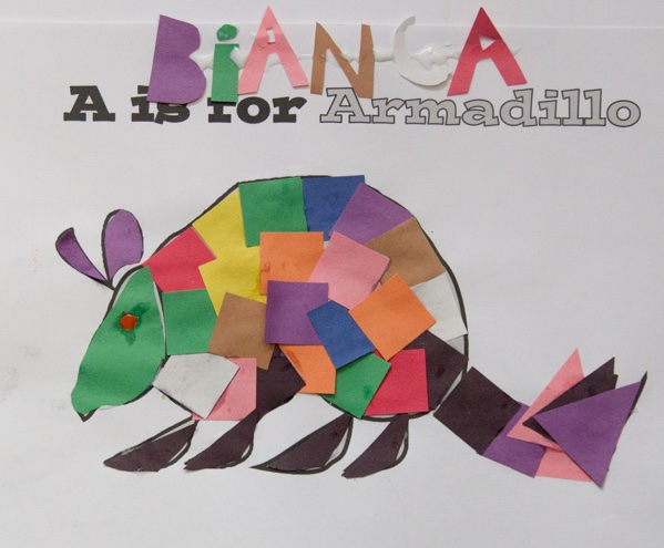 armadillo craft with squares
