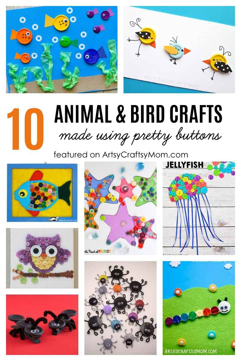 Here are 50+ Button craft ideas for kids of every age, season and holiday -that are Both Creative & Fun!