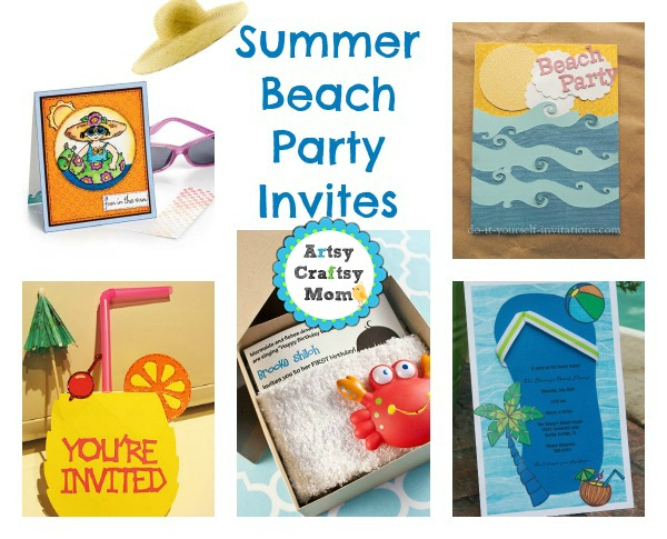 Summer Beach Party Invites