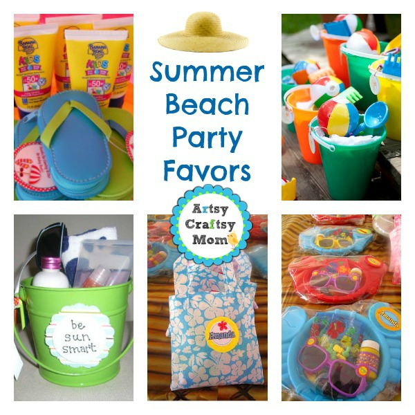 Summer Beach Party Favor Ideas