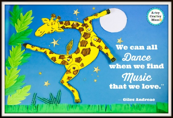Giraffes Can't Dance paper collage - 20+ Simple paper collage ideas for kids - A collection of craft ideas that kids can make at home. Frugal, Open-ended & a lot of fun