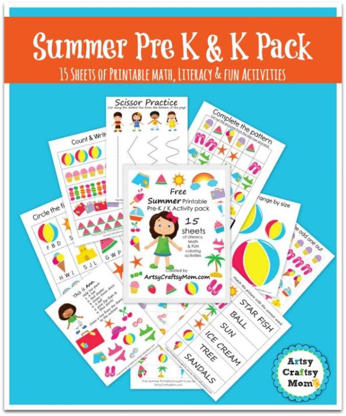 Free Printable pack to Pre K & Kindergarten