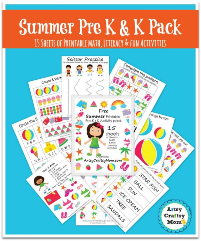 Free Printable pack to Pre K & Kindergarten