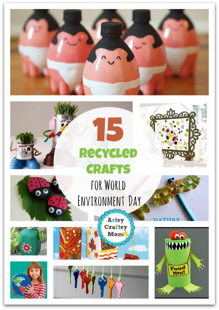 15 Recycled Crafts for World Environment Day