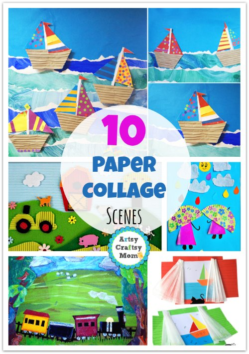 10 Paper Collage Art Ideas Scenery