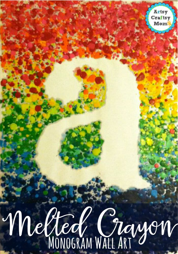 Melted Crayon Monogram Wall Art _1