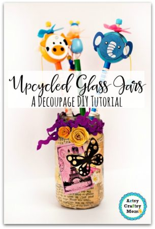 How to Upcycle Glass Jars - Decoupage DIY Tutorial
