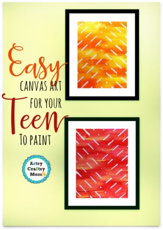 easy canvas art teenager