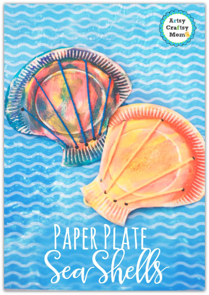 paper plate seashell craft for preschoolers