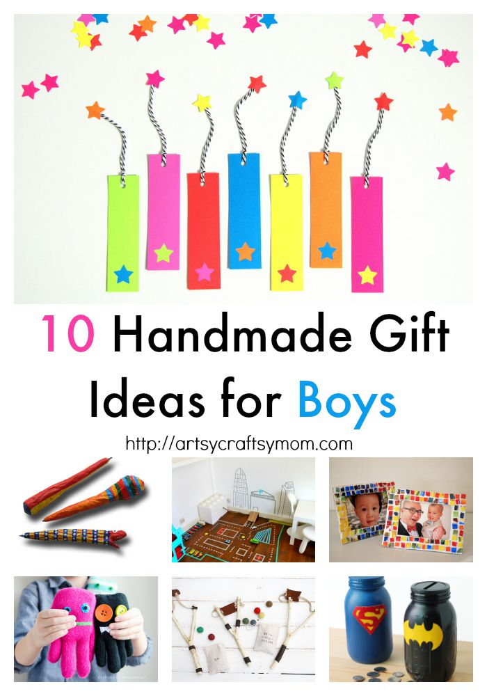 10 Handmade Gift Ideas for Boys  they will fall in love with. DIY catapults, race tracks, silly putty, paper mache pens, puppets and more fun gift ideas