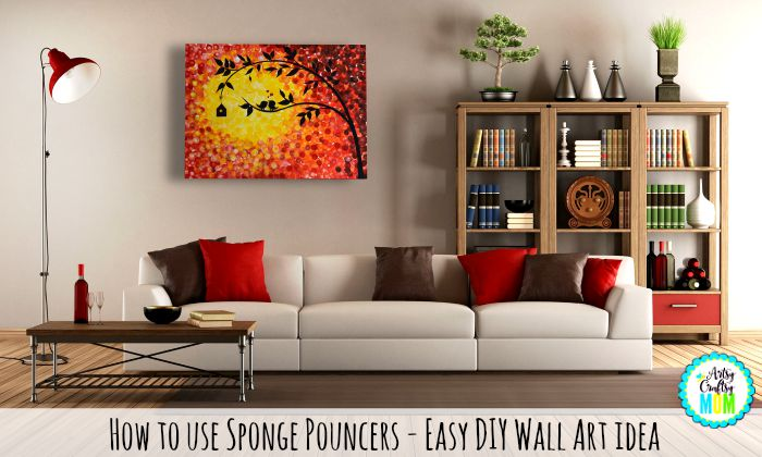 Artsy Craftsy Mom.com  |Paint,Martha Stewart Crafts® Foam Pouncers Set and canvas - this do-it-yourself wall art  will be a fab addition to any wall. Its easy, inexpensive and highly customizable. Come check step by Step pictures on how to make it.