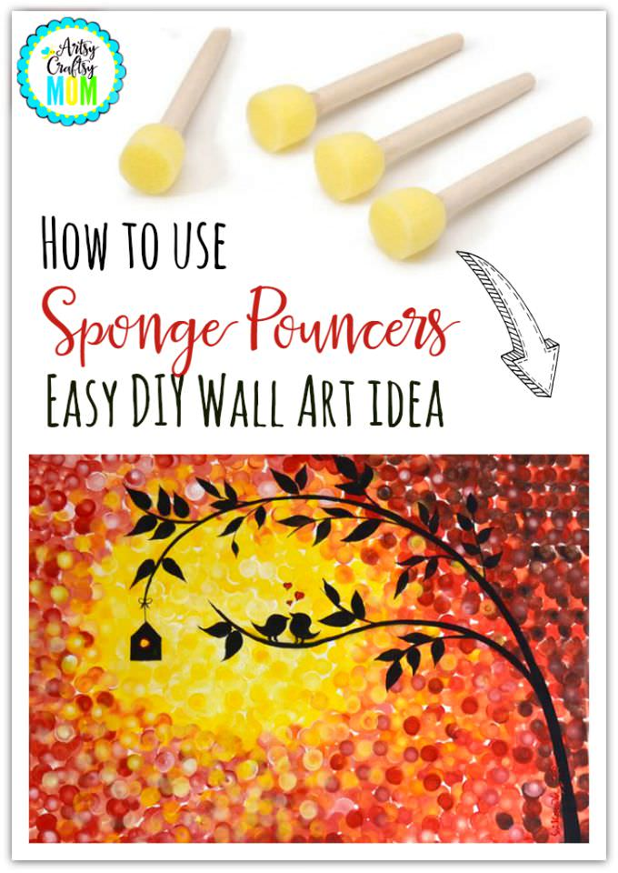 How to use Sponge Pouncers - Easy DIY Wall Art idea