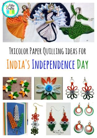 Tricolor Paper Quilling ideas for India's Independence Day
