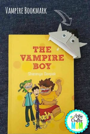 Back to school Monster Bookmarks - Easy to fold origami adorable vampire bookmark, perfect for Halloween, back to school or just for fun