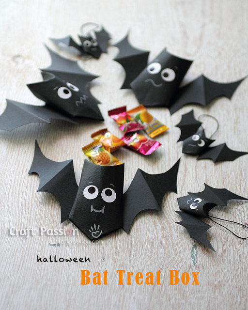 Treat bat bag - 10 Easy Halloween Bat Crafts for Kids - Bats Art Projects, Toilets Paper Roll Bats, Foam Bats. Hang around the house as October is Bat Appreciation Month