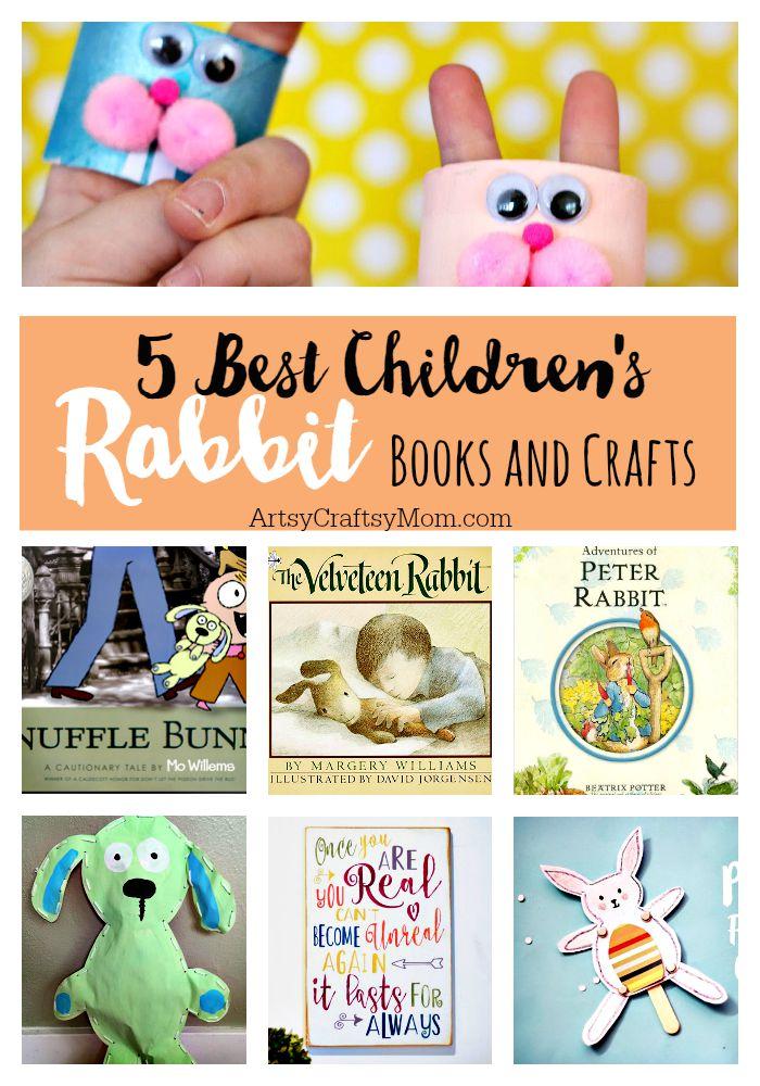 5 Of our Favorite Children's Rabbit Books and Crafts - Sharing our favorite books and one adorable craft to go with each book. Perfect for Easter and International Rabbit Day.