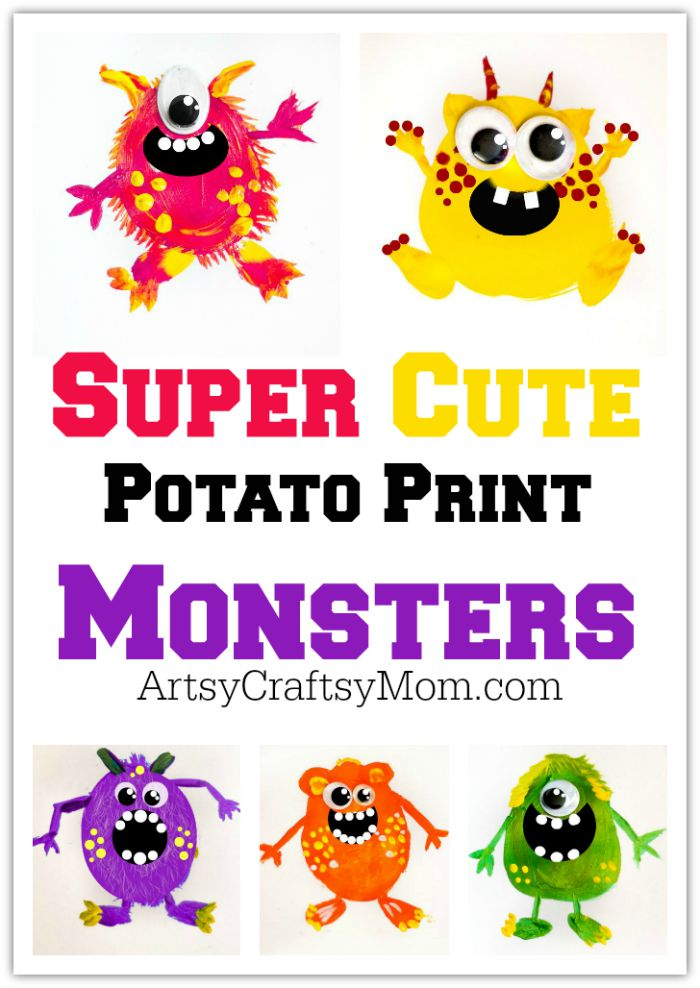 super cute potato print monsters 5 super cute potato print monsters perfect for halloween free printable little monster wall art - Cute Pictures To Print