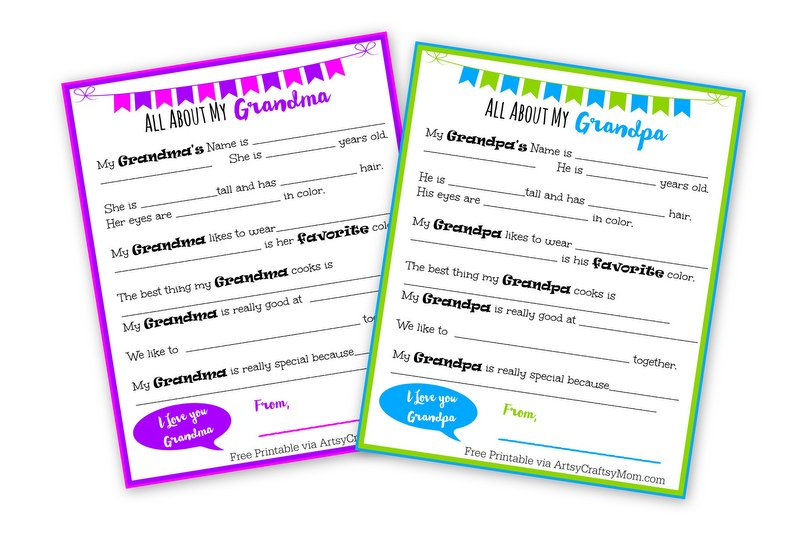 image relating to All About My Grandma Printable identified as 5 Visualize Publications for Grandparents Working day + Free of charge Printable