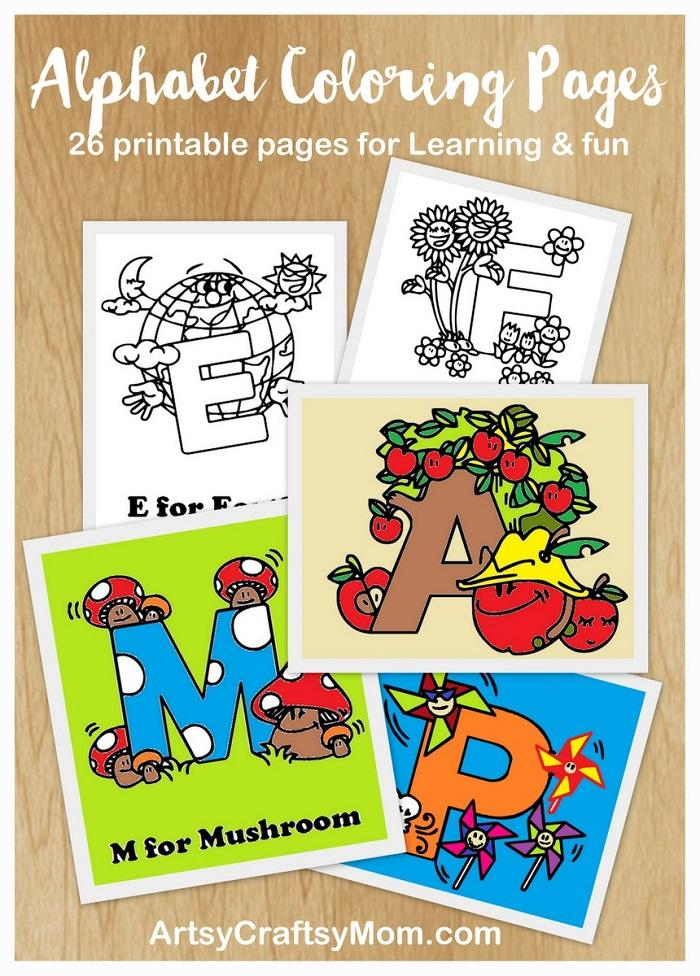 - Free Alphabet Letters Coloring Pages - Artsy Craftsy Mom