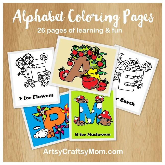 Free Alphabet Letter Coloring pages1