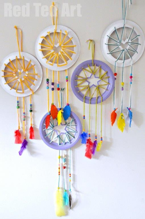 Paper-Plate-Crafts-for-Kids-Make-super-cute-Dream-Catchers-with-Heart-Star-details